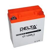 Delta АКБ для мотоциклов залит. 12V 5Ah  YB5L-B,12N5-3B   ct12051