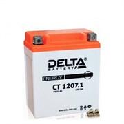 Delta АКБ для мотоциклов залит. 12V 7Ah  YTX7L-BS   ct12071