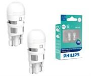Philips Лампа диодная бесцокольная W5W  4000K   к-т 2шт   11961ulw4x2