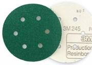 3m 245 Круг абразивный зеленый на липучке D150мм (N60)  00316
