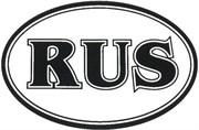 Арт Рейсинг 1-036 Автознак-наклейка RUS (наружный) (10х14см)