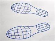 Коврики бумажные двухслойные Следы ног  393.0100