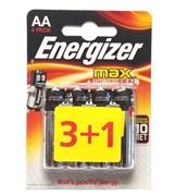 Energizer Max Aa/e91 Lr06 Батарейка щелочная (1.5V) (3шт+1шт)