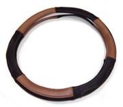 Чехол на руль черно-коричневый M  натур. кожа+натур. замша