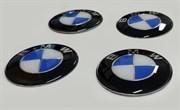 Эмблема на диски BMW (4шт, голубые)