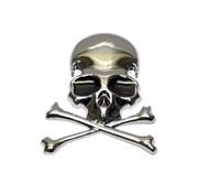 Наклейка-шильдик череп и кости