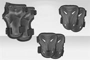 Защита локтей,коленей,запястьев (к-т.),пластик (черный) BHC-3-a  200044