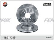 Fenox Диск тормозной передний Accent (к-т)  tb217753
