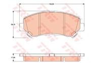 Trw Колодки тормозные дисковые, комплект  gdb3467