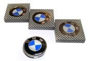 Заглушки для диска штатный размер BMW (синий) (4шт)  90008кс